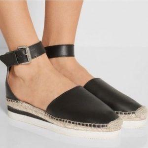 See by Chloe   Glyn Flatform Leather Espadrilles